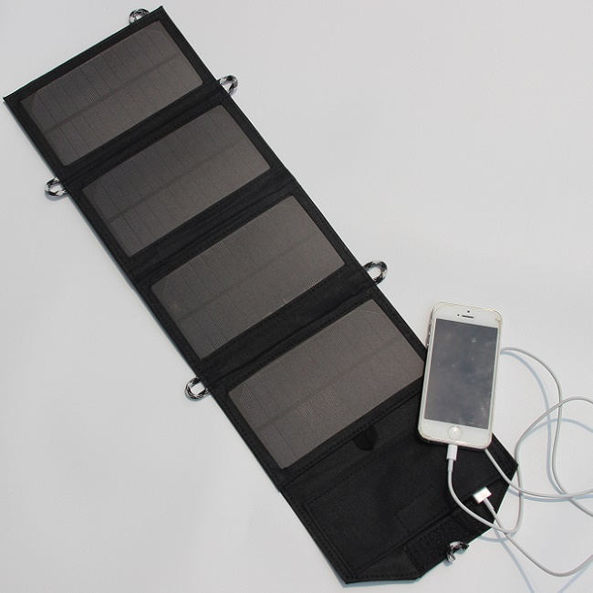 5V 7W Foldable Solar Charger Outdoor Portable Solar Panel Charger for Cell Phone Mobile Phone Power Bank  New Free Shipping