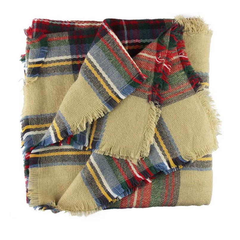Lovesky Women New Wool Blend Blanket Oversized font b Tartan b font Scarf Freeshipping Hot