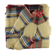 Lovesky Women New Wool Blend Blanket Oversized Tartan Scarf Freeshipping Hot