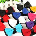 2015 Men s bowtie accesorios patchwor solid color bowknots bowties 12cm 6cm butterfly bow tie gravatas