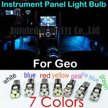 For Geo Metro Prizm Spectrum Storm Tracker Instrument Panel Light 10pieces T5 LED White Blue Red Pink Green Ice blue Yellow(China (Mainland))
