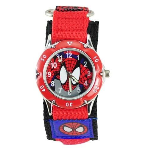 10pcs 3D Cartoon Spiderman Watches Fashion Children Boys Kids Students Spider-Man Nylon Sports Watches Analog Wristwatch Relogio<br><br>Aliexpress