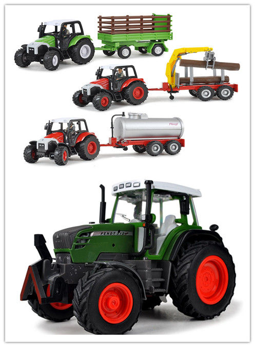 Big size Farm Tractor logging vehicle car 1:32 alloy Diecast music model car Simulation toys for kids(beibei049)(China (Mainland))