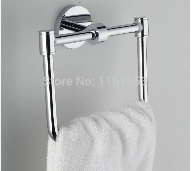 2014 Limited Tecido Sale Accessories for Bathroom Shower Door Rollers All Copper Towel Ring Square Hang Ou The Hardware Pendant(China (Mainland))