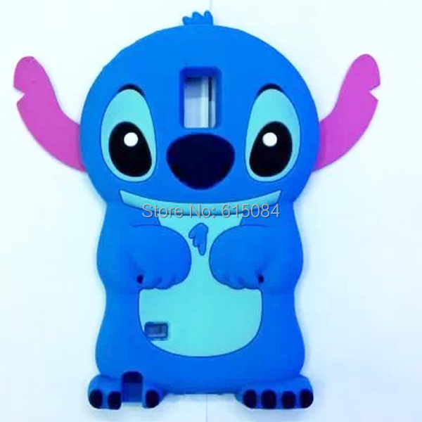 10pcs/lot 3D Cute Stitch Soft Silicone Cellphone Moblie phone Rubber Case Back Cove for Samsung GALAXY Note 4 N9100(China (Mainland))