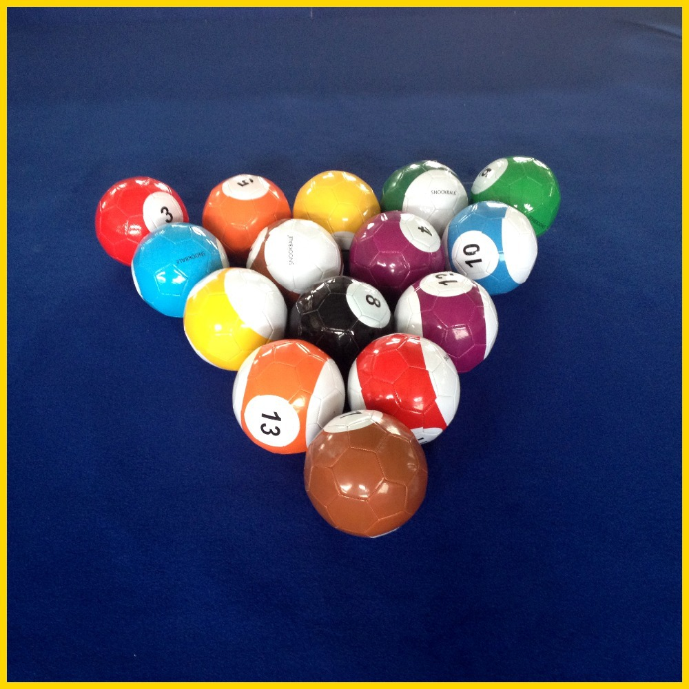 Newest sport game No.one supplier in China soccer ball Snookball/poolball(China (Mainland))