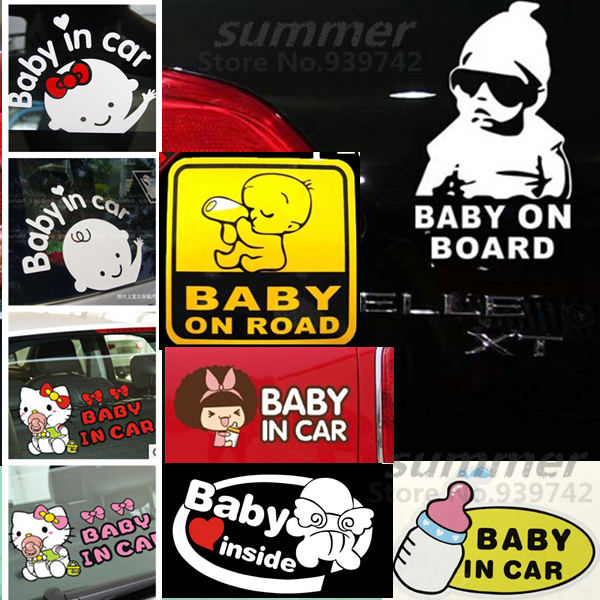 ! Cool Baby Board baby car Car Sticker Waterproof Reflective Decal Rear Windshield styling - Summer's Store store
