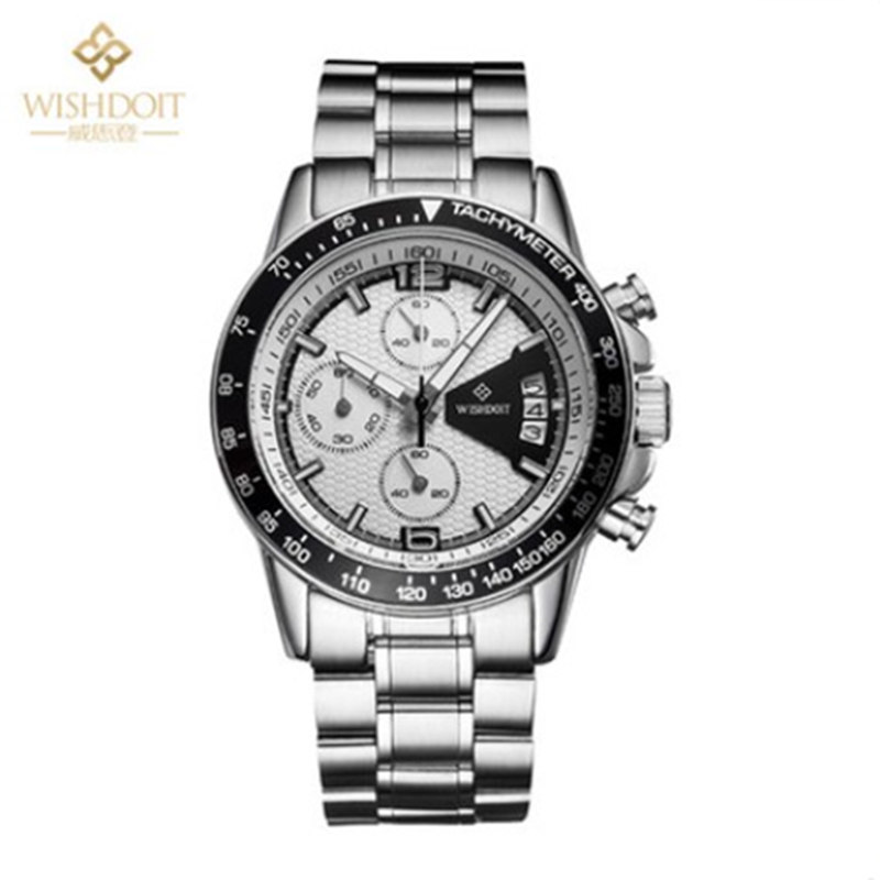 2015 New Chronograph watch army sport quartz luxury male waterproof stop watches full steel relogio mens genuine leather strap
