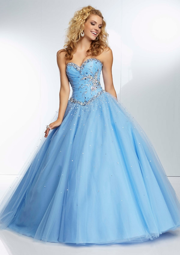 Online Get Cheap Sky Blue Ball Gown Prom Dresses -Aliexpress.com ...