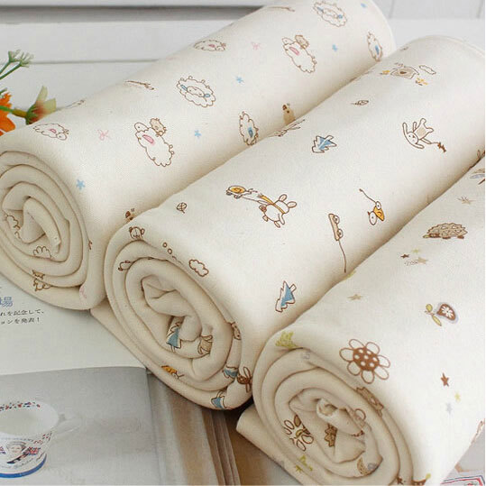 2Pcs 190*50cm cotton jersey fabric natural color baby organic cotton fabric jersey knit fabric for baby clothes bedding(China (Mainland))