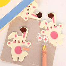 K17 Cute Kawaii Rabbit Soft Silicone Bookmark School Office Supply Escolar Kids Gift Paper Stationery(China (Mainland))
