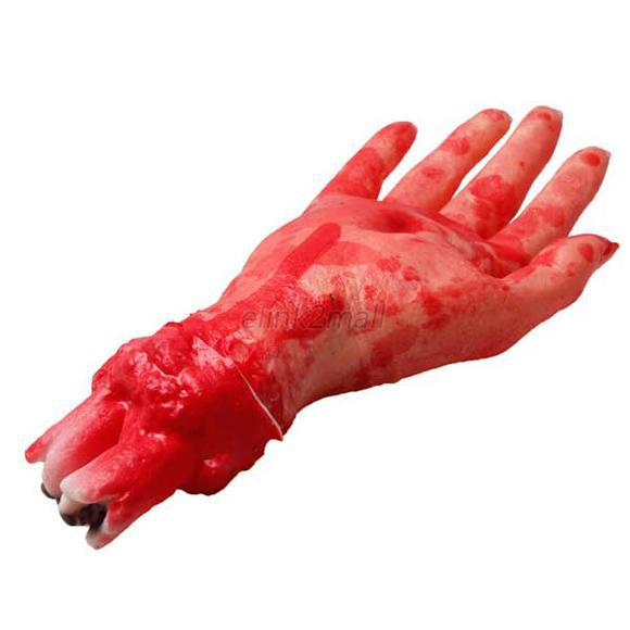 Creppy Scary Bloody Fake Latex Hand Halloween Masquerade Party Props Toys Fancy(China (Mainland))