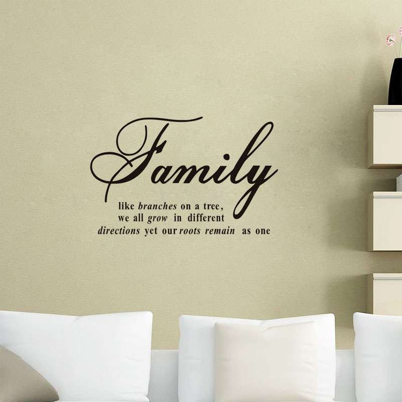 Family Like Branches On A Tree Art Quotes Wall Sticker Modern Creative Decal Vinyl Removable Wall Decals(China (Mainland))