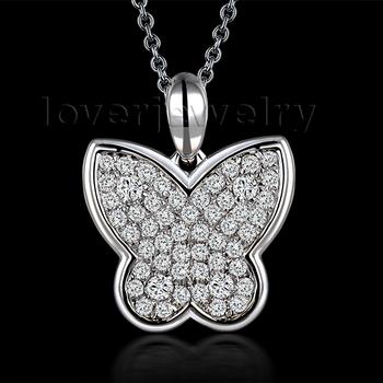 Amazing! Selling 18Kt White Gold 0.47Ct Natural Diamond Wedding Pendant WPA076