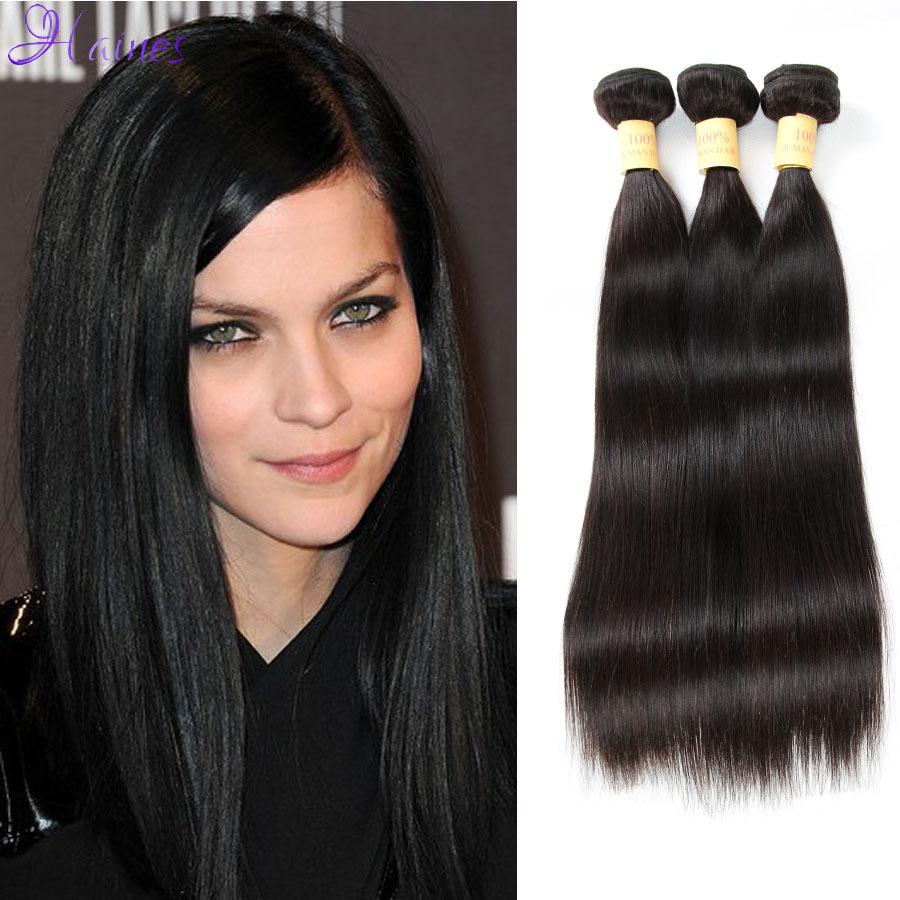 Queen hair products brazilian virgin hair straight 4 pcs lot cheap brazilian straight hair weave bundles 8