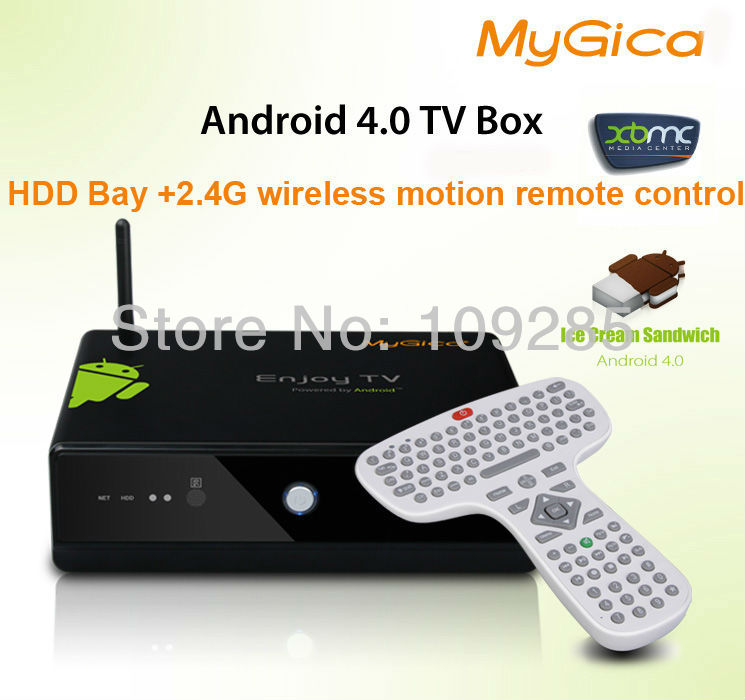 Geniatech ATV3000B with HDD Bay 2.4G wireless remote control M3 3D Android 4.0 HDD Media Player Android TV Box DLNA XBMC WIFI(China (Mainland))