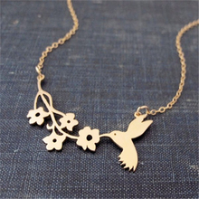 Buy Fashion Lovely Bird Bites Branch Necklace,A Symbol Peace Necklace,Bird Flower Charm Necklace Jewelry for $1.50 in AliExpress store