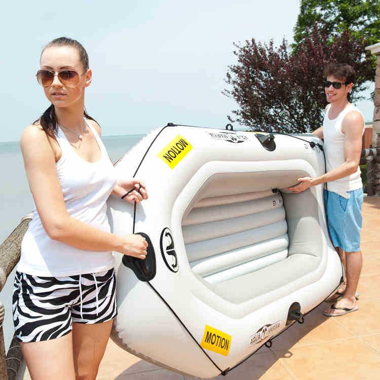 AQUA MARINA / music zoned recreational kayak inflatable dinghy thick double canoe fishing boat Specials(China (Mainland))