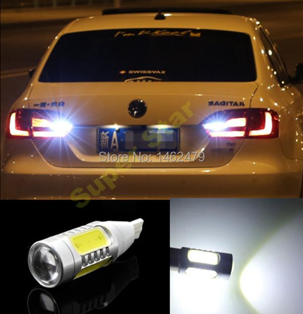 2x T15 W16W NO Error Plasma LED Projector Blub Tail Backup Reverse Lights Volkswagen VW Passat B6 B7L Tiguan Scirocco skoda - Shenzhen City Superstar Technology Co., Ltd. store