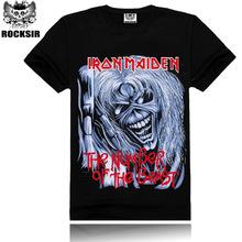 Buy Brand Clothing Tee Men T Shirt Black T-Shirt 100% Cotton Skull Print Heavy Metal Rock Hip Hop Clothing Black Metallica Man Tops for $7.35 in AliExpress store