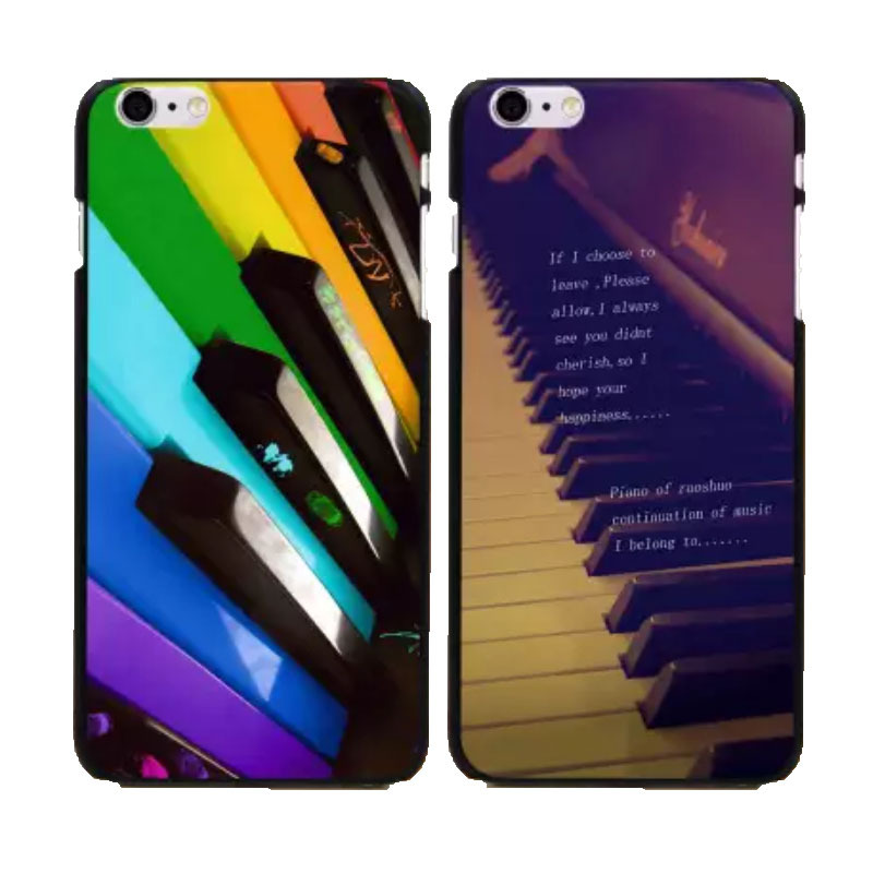 color piano keyboard design mobile phone case hard cover iphone 4s 5s 6 4.7inch 6plus 5.5 inch case. - HEAVEN STRANGER'S STORE store