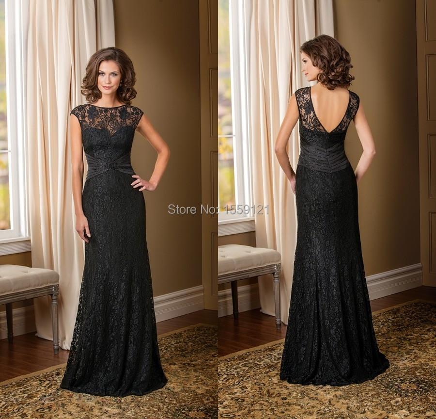 Elegant Mother Of The Bride Dresses: Black Long Dresses To Party Mother Of The Bride Dress To
