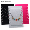 2016 Free Shipping Jewelry Display Velvet Necklace Stand Holder Necklace Pendant Rack Showcase
