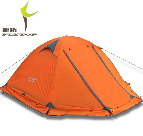 Flytop Outdoor Winter Tent Camping Equipment Hunting Camp Tents Mountain Aluminum Double Layer 2 Person Alpine 4 Season Tent