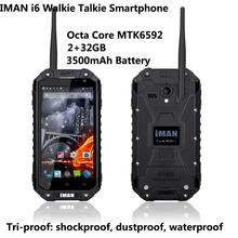 IMAN i6 Walkie Talkie Smartphone, 4.7-inch Octa Core MTK6592 2+32GB, Waterproof Dustproof Shockproof NFC 3500mAh Battery