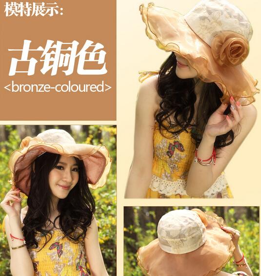 latest lady hat visor child cycling UV sun hat can disassemble dual(China (Mainland))