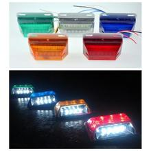 5 Color 24V 18 LED Waterproof  Bus Truck Trailer Lorry Side Marker Indicator Light Side Lamp(China (Mainland))