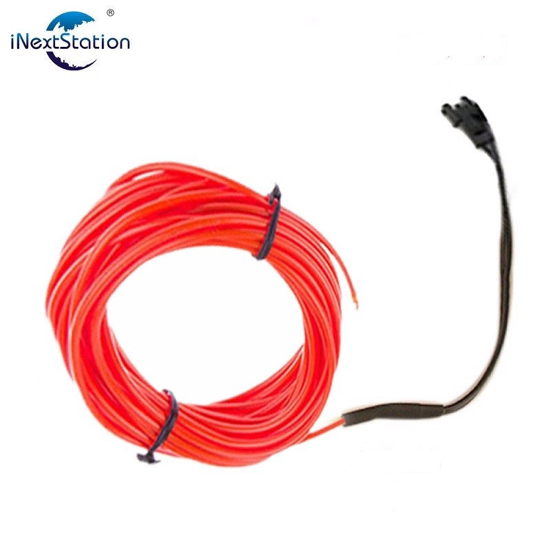 Flexible Light Waterproof Led EL Wire Strip Neon Sign Glow Rope Tube Car Bar with 3V Or 12V Power Supply for Dance Party 1M/5M(China (Mainland))