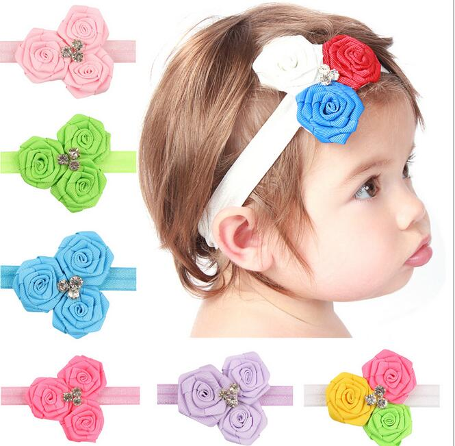 Fashion Style Flora Baby Girl Hair Bow Nice Headband Elegant Flowers Hairband For Toddler Hair Accessories Soft Handwear(China (Mainland))