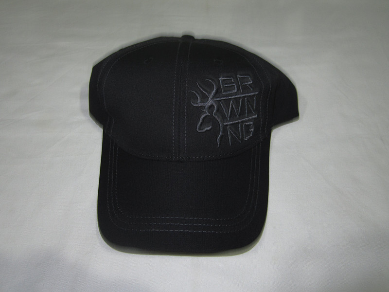 1PC black color Men and Women's baseball cap with grey browning embroidery, Fishing hiking sun hat CR-C122(China (Mainland))