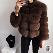 Buy Women's Winter Jacket Whole Skin Leather Real Fur Fur Fox Coats 2017 Female Luxury Natural New Genuine Fur Waistcoats C11 for $374.92 in AliExpress store