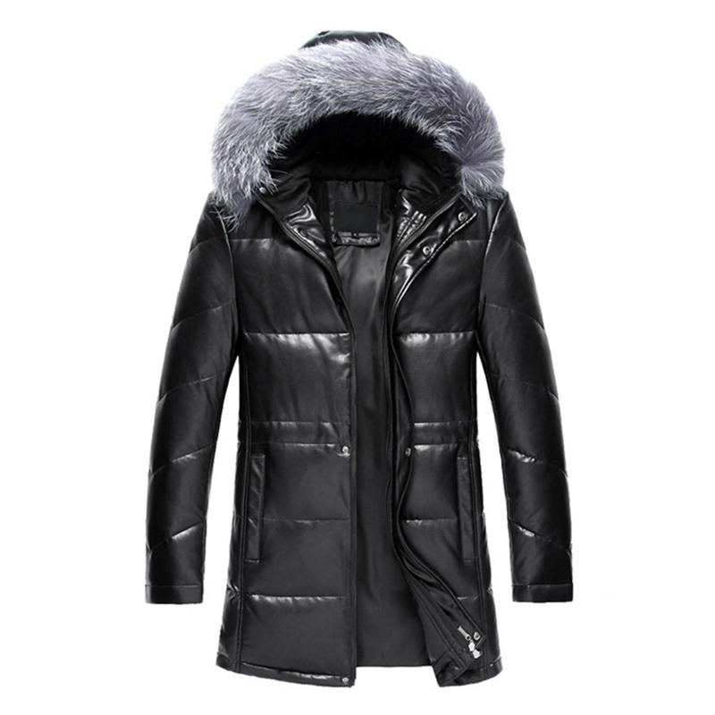 Online Get Cheap Men Leather Parkas Fur Hood -Aliexpress.com