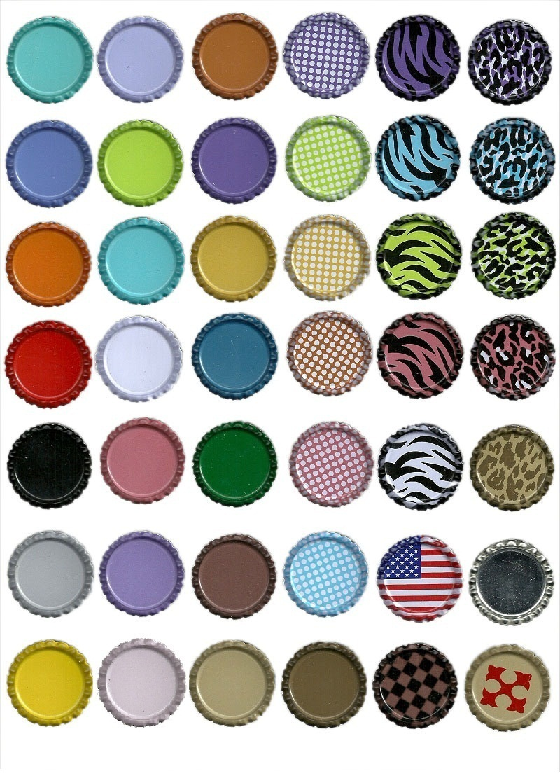 100pcs 33MM Colourful Flat Bottle Caps Crown Caps for Wine Charms Without Hole 42 Colors DIY Jewelry Crafts Fedex(China (Mainland))