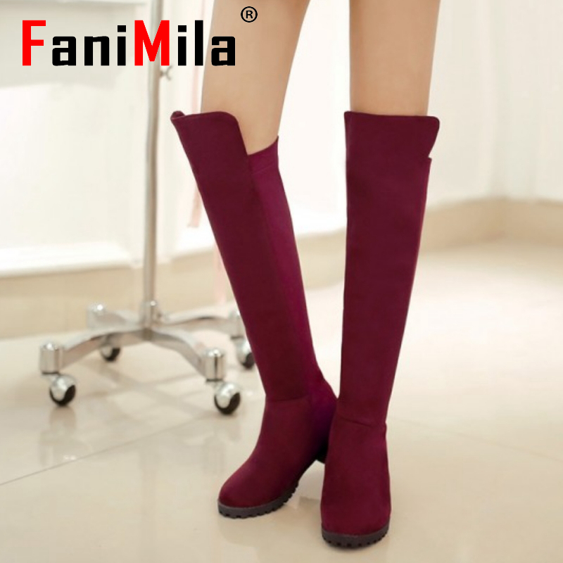 women over knee boots ladies riding fashion long snow boot warm winter brand botas flat footwear shoes P19271 size 34-39<br><br>Aliexpress