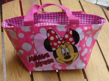 Free Shipping 12pcs New pink Minnie Mouse Lunch Bag Handbag Tote very cute