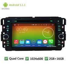Quad Core Android 5.1.1 1024*600 DAB+ Car DVD Player Radio Audio PC Stereo For GMC Yukon Savana Sierra Tahoe Acadia Denali Chevy