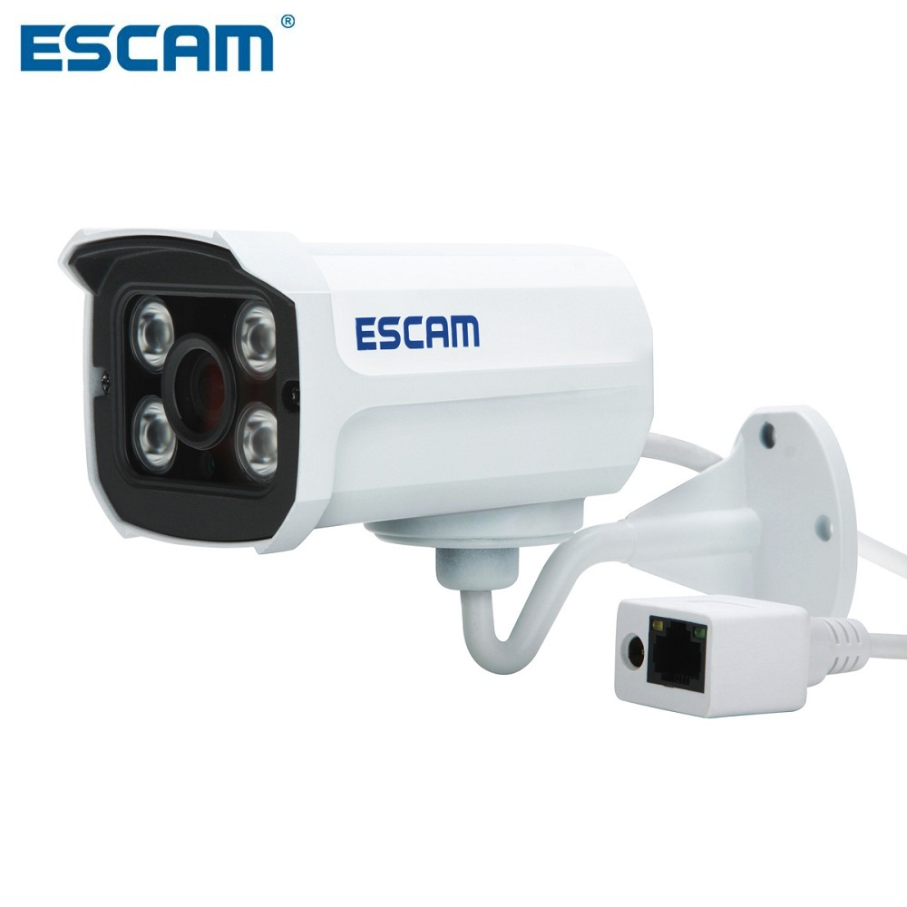 ESCAM Brick QD300 Waterproof Bullet IP Camera CCTV 1/4 Inch 1MP CMOS 720P - White(China (Mainland))