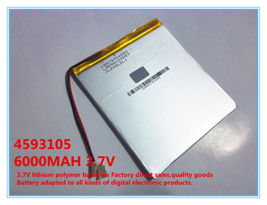 3.7V,6000mAH,4593105 Original L G battery polymer lithium ion battery;SmartQ T20,ONDA VI40,AMPE A86 Dual Core P85 Tablet PC(China (Mainland))