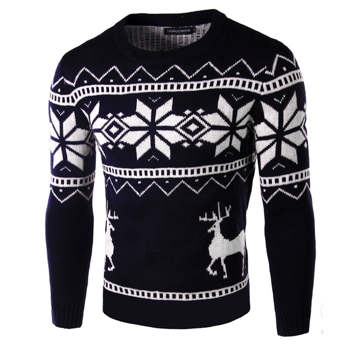 Cashmere Men Sweater With Deer 2016 Winter Couple Matching Christmas Sweaters Reindeer Pullover Knitted Brand Sweater(China (Mainland))