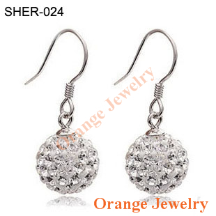 Aliexpress Wholesale 10mm Mix Color Crystal Micro Pave Disco Ball Silver Plated Drop Earring Free Shipping 2Pcs=1Pair(China (Mainland))