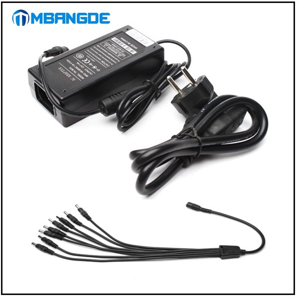 4pcs/lot 12V6A DC Power Supply Adapter 1 to 8 Splitter Cable for CCTV Security DVR Camera Free Shipping<br><br>Aliexpress