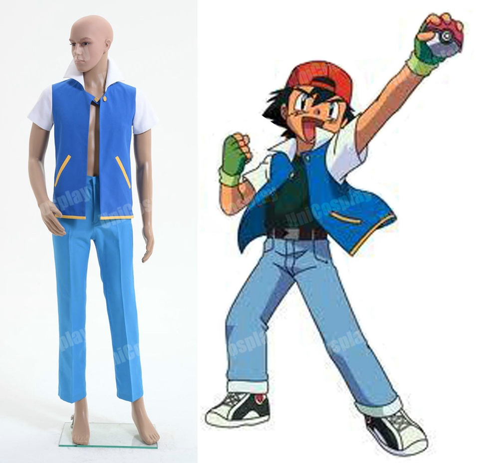 Pokemon Ash Ketchum Cosplay Costume Style AОдежда и ак�е��уары<br><br><br>Aliexpress
