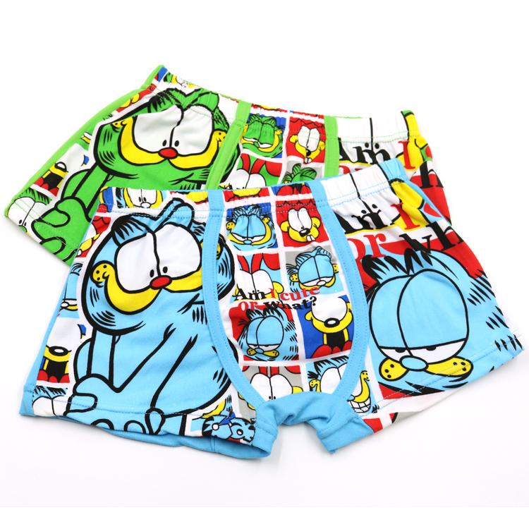 Boys Children Underwear 2016 High Quanlity New Kids Cartoon Cat Briefs Boy Panties Children Clothing 3Pcs Free Shipping(China (Mainland))