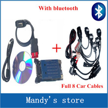 Quality A+++2015.R3 or 2014 R2 new vci cdp with bluetooth SCANNER TCS cdp pro plus with LED 3 IN1 CDP+ Full 8 Car Cable(China (Mainland))