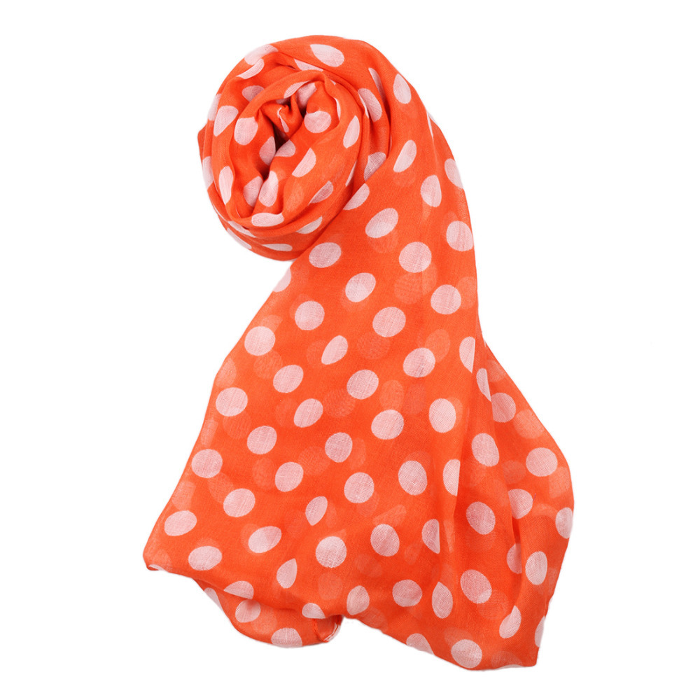 Good Quality 60*200cm wholesale new arrival fashion summer style ladies scarves polka dot plated scarf shawl Q00872(China (Mainland))
