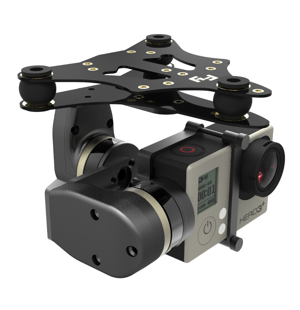 two-axis brushless gimbal / Brushless Gimbal MINI 2D for Gopro Hero3 Camera Mount DJI Phantom FPV